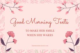 90 good morning texts to make her smile