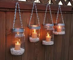 Hanging Mason Jar Garden Lights DIY Lids Set by TheCountryBarrel I can do  this for the