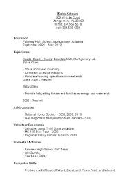 Student Resume Examples High School Student Resume Examples First
