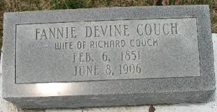 Fannie Devine Couch (1851-1906) - Find A Grave Memorial