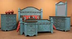 turquoise bedroom furniture. Modren Bedroom Corona Antique Turquoise Bedroom Set And Furniture San Carlos Imports