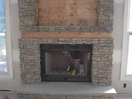 Interiors  Marvelous Faux Fireplace Stone Painting Stone Fake Stone Fireplace