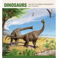 dinosaurs hallett art 2019 wall calendar calendars books gifts