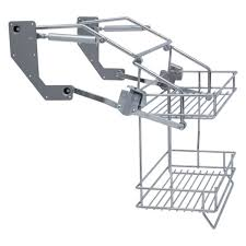 vibo pull down two tier wire shelves for 500mm width wall units