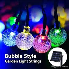 solar string lights outdoor fairy lamp led crystal ball trees garden party decor for festival indoor image 1 multicolor fairy lights