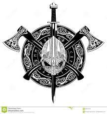 шлем викинга пересеченные оси викинга и в венке скандинавских