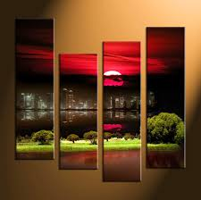 piece city grass large canvas prints pictures landscape multi panel nature home wall art decor vvvart amazing huge wall art canvas