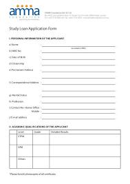 Loan Application Form Download Amma Foundation Study Loan Application Form