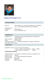 Unusual Tefl Cv Example No Experience Pictures Inspiration Entry