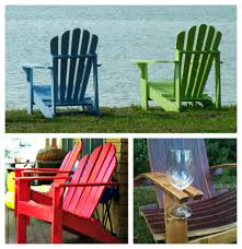 painted adirondack chairs with wine glass holder