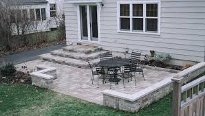 simple patio designs with pavers. Pretty And Simple Patio Ideas Picture Gallery Inspiration Design: Glorious Backyard Landscape Design With Iron Furniture Decks Decors As Inspiring Designs Pavers