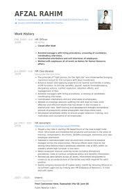 Hr Officer Resume Samples Visualcv Resume Samples Database
