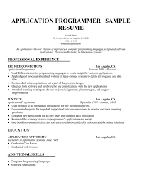 Brilliant Ideas of Programmer Sample Resume About Template