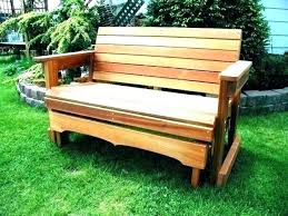 wooden glider benches free bench plans outdoor diy wood