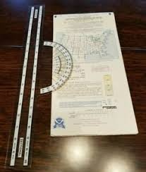 Details About Detroit Sectional Aviation Aeronautical Chart Map With Ruler 51st Edition 1995