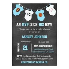 Football Photo Birth Announcement Cards  ZazzlecomBaby Shower Invitations Sports Theme