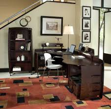desk ideas for home office. Interior, Pine Desks For Home Office Interior Furniture Beauteous Design Ideas Rectangular Brown Motif Rugs Desk