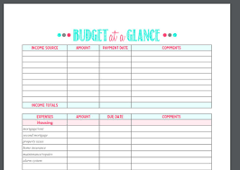 Budget For Free 20 Gorgeous Free Budget Printables I Want A Bit More