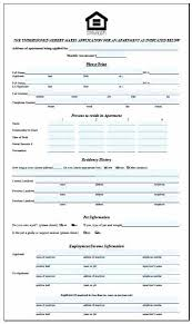 Rent Lease Application Form Rental Free House Lease Application Form Agreement Template