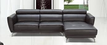 genuine and italian leather corner sectional sofas black leather contemporary