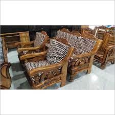 assam teak wooden sofa set at best