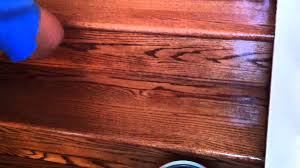 how to refinish oak hardwood stairs applying the polyurethane you