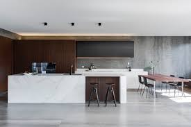 Marble Kitchen Island Table Kitchen Wooden Inlet Modern Marble Kitchen Concrete Floor Black
