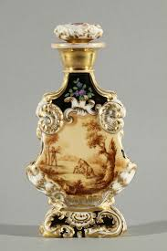 How To Decorate Perfume Bottles ANOTHER RUSSIAN POPOV PORCELAIN PERFUME BOTTLE 100th c with gilt 54