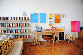 home office home workspace. Colorful Scandinavian Home Office Workspace
