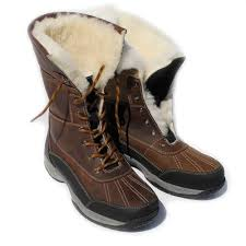 rhinegold arctic sheepskin lined winter leather boots tap to expand