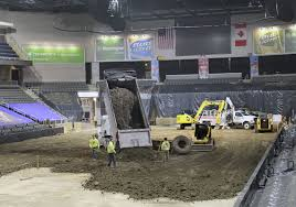 Huntington Center Seating Chart For Monster Jam Crews Get Down And Dirty At Huntington Center Toledo Blade
