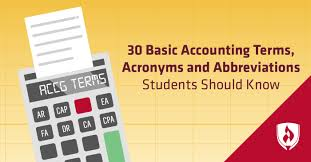 Early Childhood Education Terminology Chart 30 Basic Accounting Terms Acronyms And Abbreviations