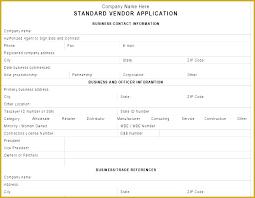 Customer Form Template New Supplier Form Template Sakusaku Co