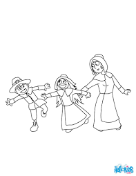 Pilgrim Boys And Girls Coloring Pages Hellokids Com Throughout Boy