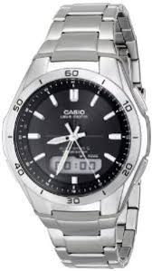 why to choose an atomic watch atomic watch for men casio men s wva m640d 1acr wave ceptor analog digital stainless steel bracelet watch