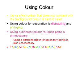 effective powerpoint presentations accessible printable version using colour
