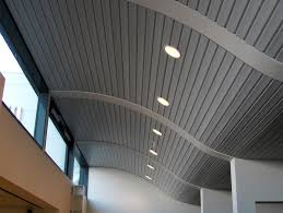 Types Of Ceilings Metal Suspended Ceiling Strip Acoustic Curved Dampa Panel