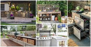 Outdoor Kitchen Idea Amazing Outdoor Kitchen Ideas For Enjoyable Cooking Time