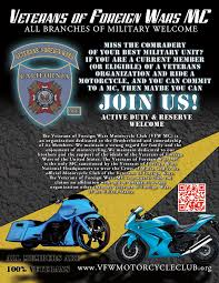 motorcycle club flyers membership vfw mc ride on