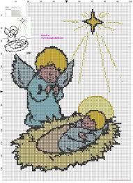 Angel With Baby Jesus Cross Stitch Pattern Free Cross