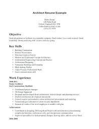 architecture intern resume sample architectural intern resume