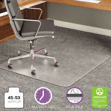 chair mat with lip. Deflecto ExecuMat Intense All Day Use Chair Mat For High Pile Carpet 45x53 W/Lip With Lip