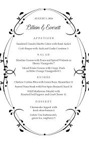 Formal Banquet Menu Template Formal Menu Card Template