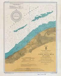 1953 Nautical Chart Map Of The Upper Niagara River 30 00