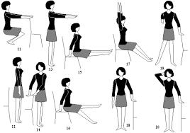 Гимнастика для здоровья Рефераты ru 1 2 сидя на стуле и опираясь на него руками встают на носки потягиваясь руки поднимают в стороны и вверх вдох возвращаются в исходное положение