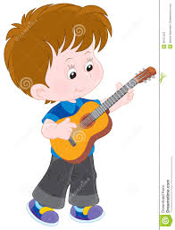 boy and babysitter playing catch clipart clipartfox little girl playing guitar
