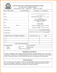 Registration Form Template Microsoft Template Examples