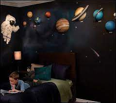 space themed bedroom outer space