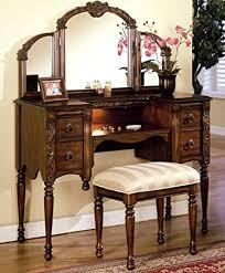 antique vanity set furniture. dark oak finish wood vanity set by acme furniture antique r