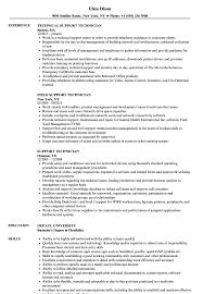 Support Technician Resume Support Technician Resume Samples Velvet Jobs
